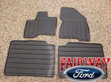 2010 thru 2018 Flex OEM Ford Parts Black Rubber All Weather Floor Mat Set 4-pc