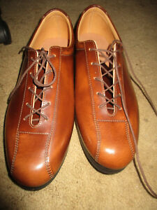 Tan all leather cycling shoes retro classic L'Eroica