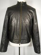Beautiful Men's Medium Armani Exchange Black Faux Leather LS Lined Zipper Jacket