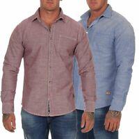 Timezone Herren Hemd Herrenhemd Shirt Langarmhemd Herrenshirt gestreift 23-10061
