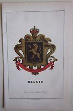 1863 BELGIO lito Pagnoni araldica Heraldry België Belgique Héraldique Heraldik