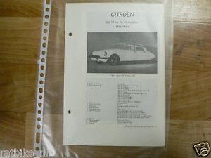 C11-CITROEN TYPE DS19 EN ID 19 MODELEN 1956-1963 -INFO