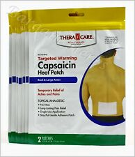 8x Veridian Capsaicin Topical Analgesic Heat Patch 2 Count Sealed Free Shipping