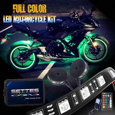 12pcs Motorcycle RGB LED Neon Under Glow Light Strip For Harley Davidson 108 LED