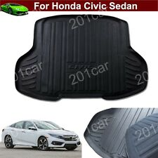 Leather Car Mat Trunk Cargo Liner Cargo Mat Tray For Honda Civic Sedan 2016-2017