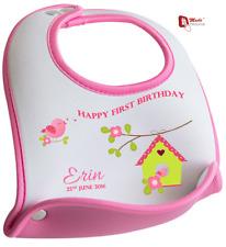 Personalizzato 1st Primo Compleanno Bavaglino Carina Uccellino Design-qualsiasi nome & Data