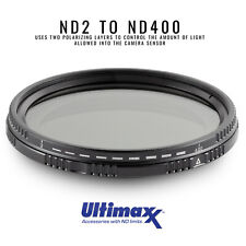ULTIMAXX 62mm Variable Neutral Density Twisting Multi-Coated Filter ND2-ND400