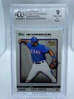 2009 Topps Ticket to Stardom Perforated #224 Elvis Andrus Rookie Card BCCG 9 NM+