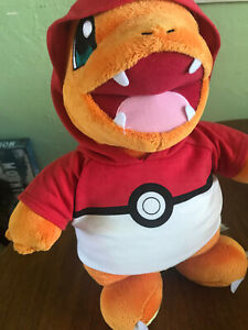 "Pokemon Charmander Build-a-Bear Workshop (Working Sound) ""15 poke ball hoodie"