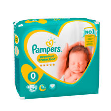 Pampers Premium Protection New Baby 0 Windeln 1,5 - 2,5 kg Diapers 24 Stück