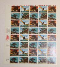 1989 Stamposaurus Dinosaur 25 Cent Stamp Sheet of 40