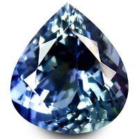 HKD CERTIFIED TANZANITE : 2,23 Ct Blau Violett Tansanit Augenrein