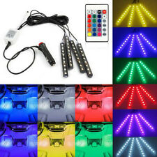 Car Interior RGB color LED 4*Strip Light Atmosphere Decorative LED Neon Lamp 12V
