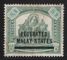 Federated Malaya 1900 $1 Elephant (SG 12) Mint £190