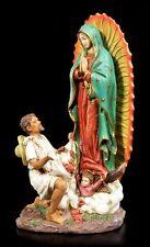 San Juan Diego FIGURA DE COLORES CON VIRGEN MARÍA - Virgen Estatua