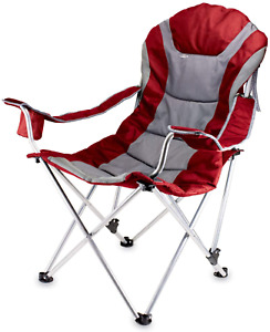 ONIVA - a Picnic Time Brand Portable Reclining Camp Chair Red/Gray