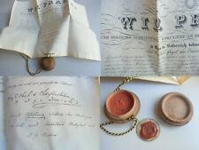 Pergament-Urkunde Uni WIEN 1847: Zeugnis Medizin, v. FEUCHTERSLEBEN & SCHILLING