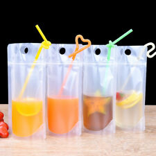 Stand Up Liquid Pouch Bag Wine Juice Beverage grind valve plastic hand hold bag