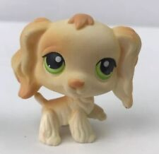 Littlest Pet Shop LPS #347 Yellow Cocker Spaniel Dog Puppy With Green Eyes
