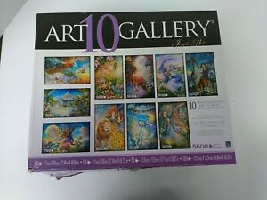 8 Art Gallery Jigsaw Puzzles Josephine Wall Angels Fairies USED