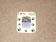 I Love My Dog -Pet Photo Picture Frame(Paw Prints)Ceramic Magnetic Frame-WOW!!!