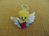 1996 LOONEY TUNES TWEETY BIRD READING BOOK  ANGEL ENAMEL PIN Warner Bro. Bird