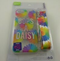 Fits Iphone 6 , 7 & 8 & SE phone case oops a daisy flower rainbow + lanyard