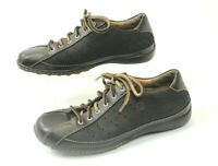 Born Women's Black Leather and Suede Lace Up Sneakers Size 7.5 EUR 38.5 W31379