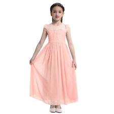 Kids Flower Girl Dress Teen Lace Pageant Formal Wedding Bridesmaid Long Dresses
