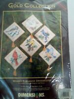 Gold Collection Counted Cross Stitch Ornaments Kit 8642 Christmas Dimensions