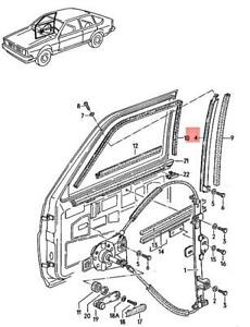Genuine Volkswagen Guide Rail Left NOS Quantum syncro 32 321 322 323 321837409H
