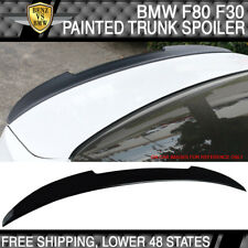 USA STOCK 12-20 BMW F80 M3 F30 4Dr V Style Trunk Spoiler Painted Jet Black #668