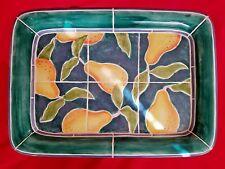 Clay Art PORTOFINO PEAR Handpainted San Francisco Mosaic Kitchen Serving Platter