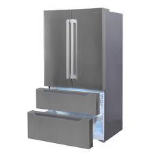 "Smeta 36"" French Door Refrigerator with Auto Ice Maker Counter depth Bottom Free"