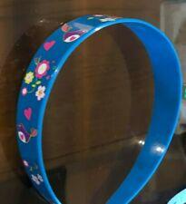 Blue Plastic Wrap Floral Flowers Cute Hair Head Band Alice