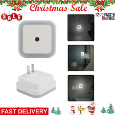 Smart LED Light sensor Lamp Plug-In Electric Energy-Saving Small Night Light 2pc