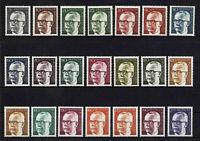 ALEMANIA/RFA WEST GERMANY 1970-1973 MNH SC.1028/1044 Heinemann