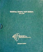 Intercept Shield Coin Album For US Walking Liberty Half Dollars 1916 1947 New
