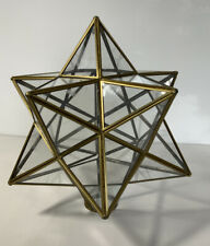 Vintage Brass And Glass Ceiling Light Lantern