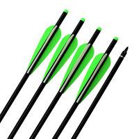 16 inch Crossbow Bolts Archery Aluminum Hunting Arrows Screw off Point 125 Grain