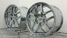 "Chrome C5 Z06 Style Corvette wheels  FITS: 1997-2004 C5 CORVETTE  17/18"" SET"