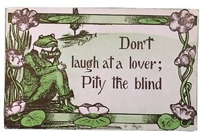 "Dressed FROG Comic Postcard A/s COBB SHINN 1911 ""Don't Laugh at a LOVER -h602"