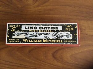 William Mitchell…Vintage Lino Cutter Set No. 454…Unused and with Instructions.