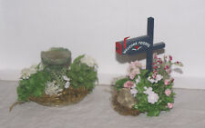 Birdbath and Mailbox 1:12 Scale Dollhouse Miniature Adult Collectable
