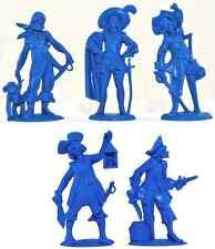 Fontanini Pirates - 10 unpainted 70mm plastic figures - colors vary