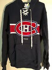 REEBOK Pullover Hoodie NHL Jersey Canadiens Team Navy sz S
