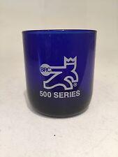 Brc Bowling Rec Center 500 Series Cobalt Blue Glass Award Trophy New