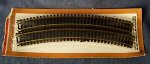 "Tyco Industries – 18"" Radius Curved Track Sections – HO Gauge – 4 Pieces - NOC"