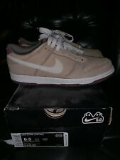 Vintage Nike Dunk Low 6.0 Suede shoes sneakers 314142 202 men size 8 Khaki