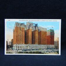 POSTCARD THE STEVENS HOTEL, CHICAGO, ILLINOIS POSTMARKED 1927